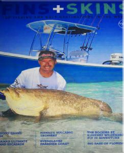 Boca Grande Florida fishing charters magazine cover with record goliath grouper